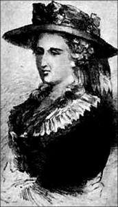 Drawing of Mrs. Radcliffe by unknown artist.