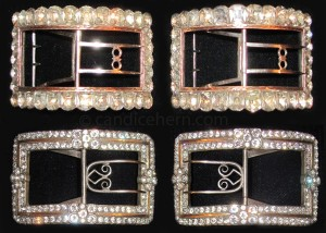 Large Artois buckles c1780. Click on image to see a larger version and to read more about the buckles.