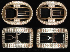 Figure 5: Large Artois style buckles, c1780. Click on image to see larger version and to read more details.