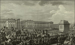 Execution of Louis XVI from a French engraving.