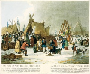 """The Fair on the Thames Feby 4, 1814"" by Luke Clenell."