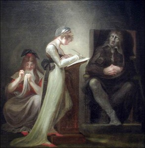 The Blind Milton Dictating to his Daughters by Henry Fuseli.