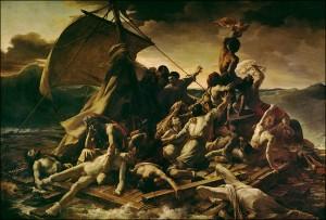 Raft of the Medusa by Théodore Géricault,1819 .