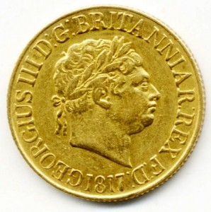 1817 gold sovereign