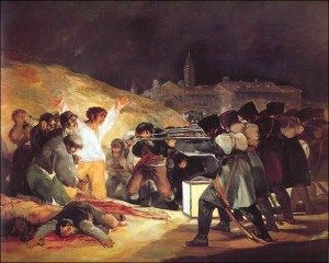 The Third of May 1808: The Execution of the Defenders of Madrid by Francisco Goya, 1814.