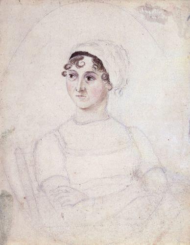 NPG 3630,Jane Austen,by Cassandra Austen
