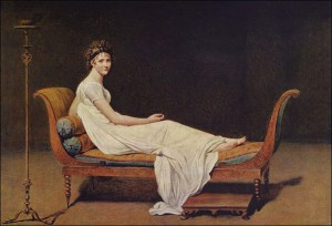 Portrait of Madame Récamier by Jacques Louis David.