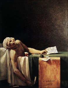 The Death of Marat by Jacques-Louis David.