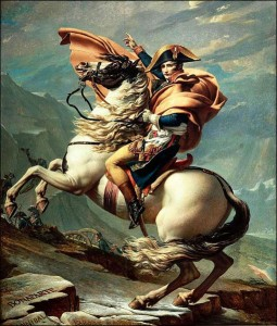 Napoleon Crossing the Alps by Jacques-Louis David.