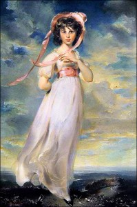 "Portrait of Sarah Barrett Moulton, called ""Pinkie"" - by Thomas Lawrence."