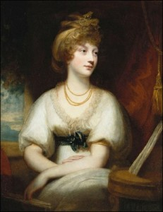 Princess Amelia by William Beechy. She was George III's youngest and favorite daughter. His grief over her death in 1810 at age 27 is believed to have brought on his final bout of madness.