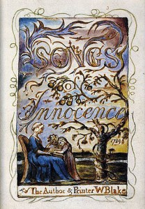 Title page from Blake's Songs of Innocence.