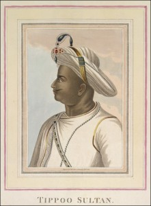 Tipu Sultan, from a painting said to have been in the possession of Richard Wellesley.