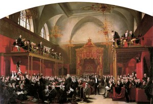 Trial of Queen Caroline by Sir George Hayter.