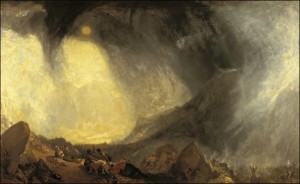 Snow Storm: Hannibal and His Army Crossing the Alps by J.M.W. Turner, 1812.