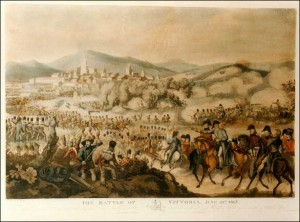 The Battle of Vittoria in a print by W. Heath.