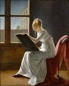 Portrait of a Young Woman Drawing by Marie-Denise Villers.