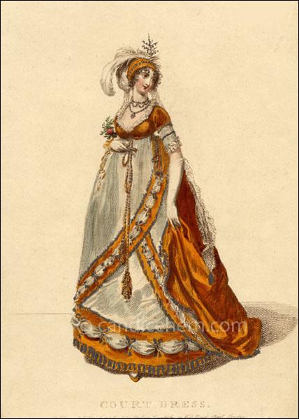 Court dress figure 1 for Miroir des modes prints