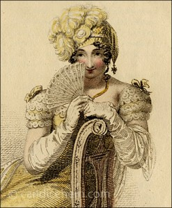 "Detail of ""Evening Dress, Ackermann's Repository of Arts, July 1813"