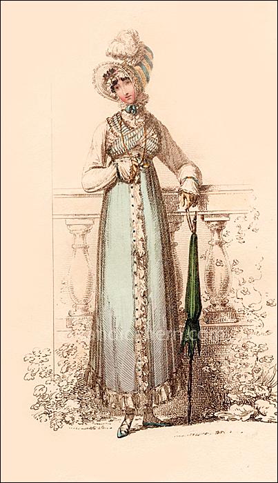 Promenade Dress October 1814
