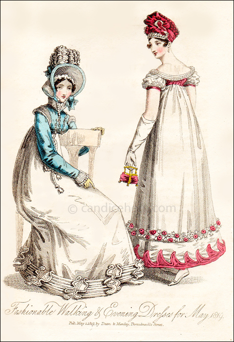 Fashionable Dresses for May 1819