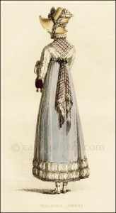 Walking Dress, Ackermann, October 1814