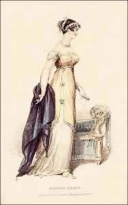 Evening Dress, La Belle Assemblee, Hanuary 1813