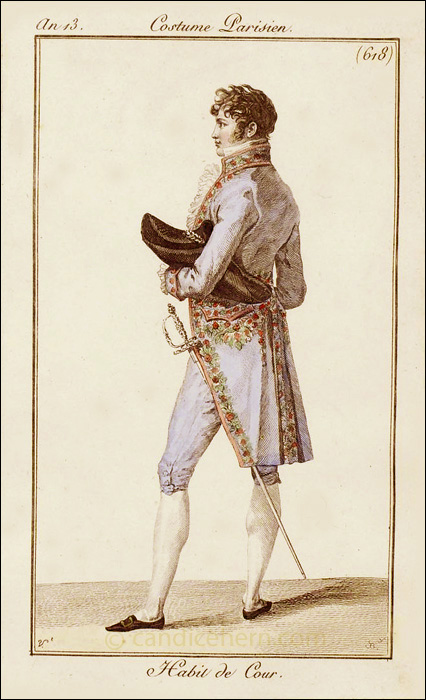 French Gentleman S Court Dress February 1805