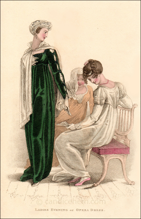 Evening or Opera Dresses, April 1810