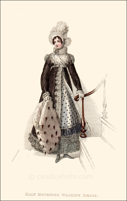 Half Mourning Walking Dress, January 1819