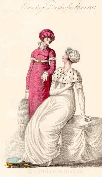 Evening Dresses, April 1810