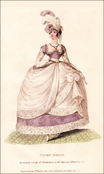 Court Dress, July 1810