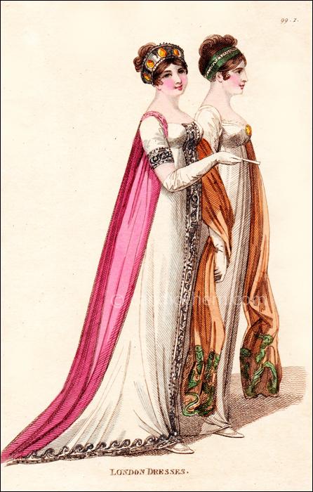 Full Dresses, April 1806