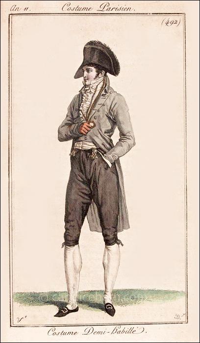 Gentleman's Half Dress, August 1803