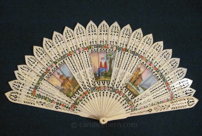 Fan with Painted Vignettes-1