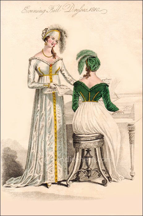 Evening Full Dresses, March 1810