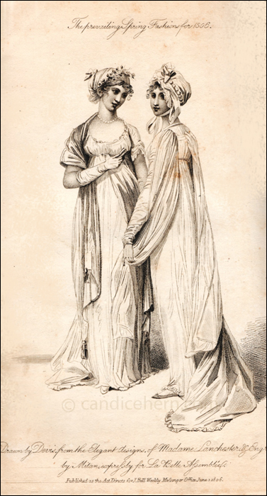 Half Dress and Walking Dress, June 1806