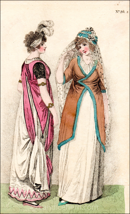 Full and Morning Dresses, April 1800