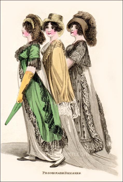 Promenade Dresses May 1805