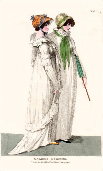 Walking Dresses October 1801