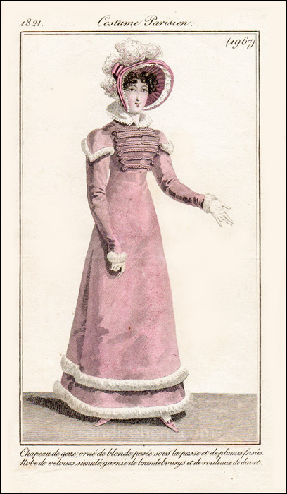 Walking Dress March 1821