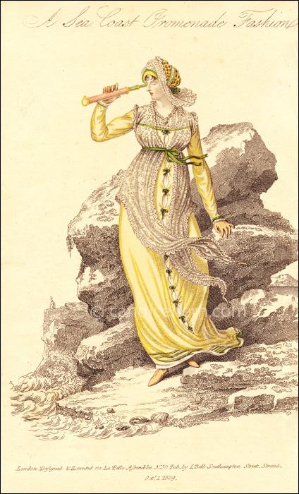 Sea Coast Promenade Dress, October 1809