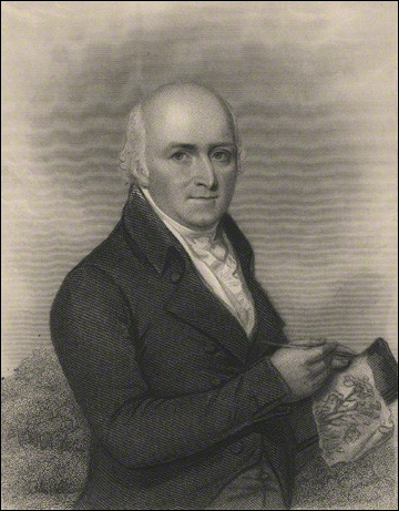 Humphry Repton by Henry Bryan Hall, published by  Longman & Co, after  Samuel Shelley, stipple and line engraving, published 1839. National Portrait Gallery, London.