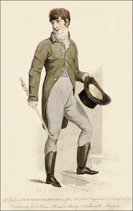 Gentleman's Walking Dress November 1806