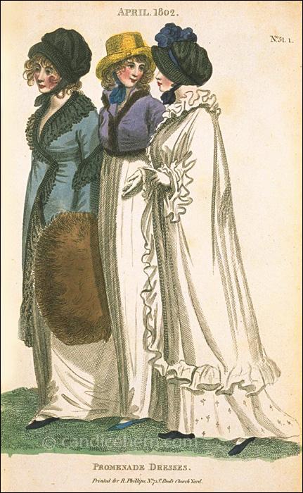 Promenade Dresses April 1802