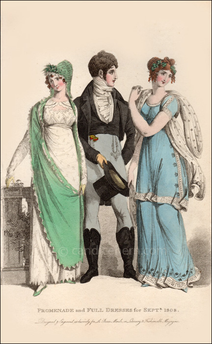 Promenade and Full Dresses Sept 1808