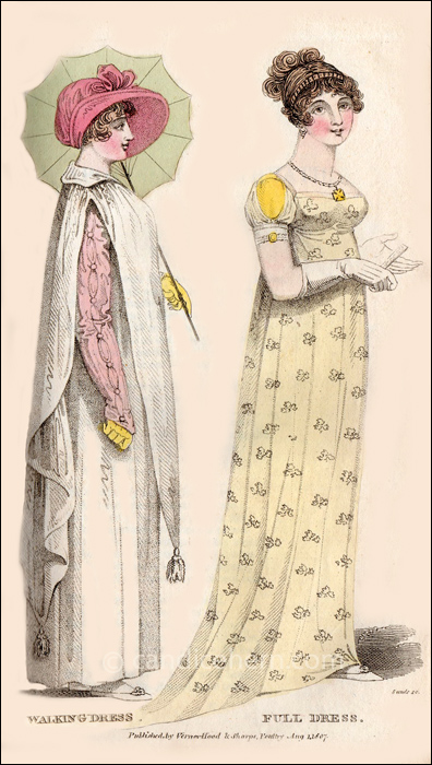 Walking and Full Dresses August 1807