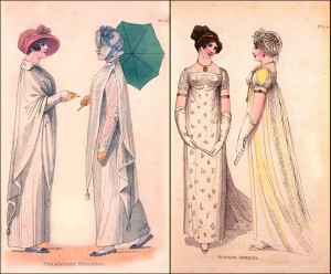 Fashions of London and Paris, July 1807.