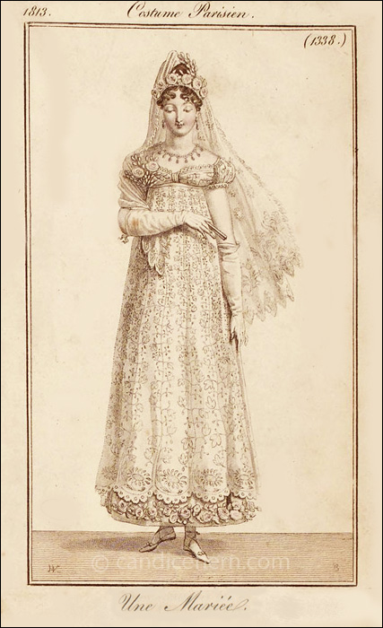 French Bridal Dress Septembr 1813