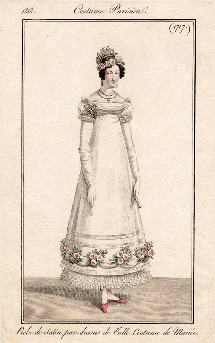 French Bridal Dress March 1818
